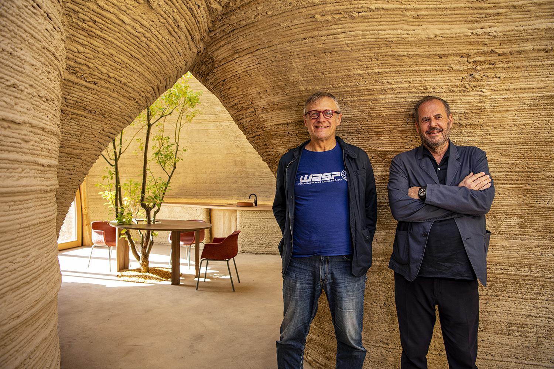 Massimo Moretti and Mario Cucinella Tecla 3 D printed house WASP MCA 1